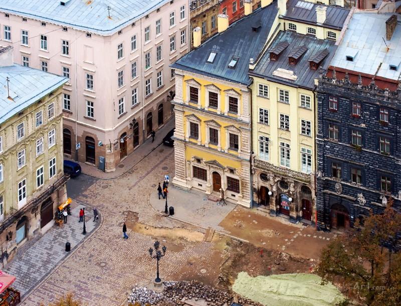 Львов. площадь Рынок  печать на холсте, натянут UkrainArt - фото 1