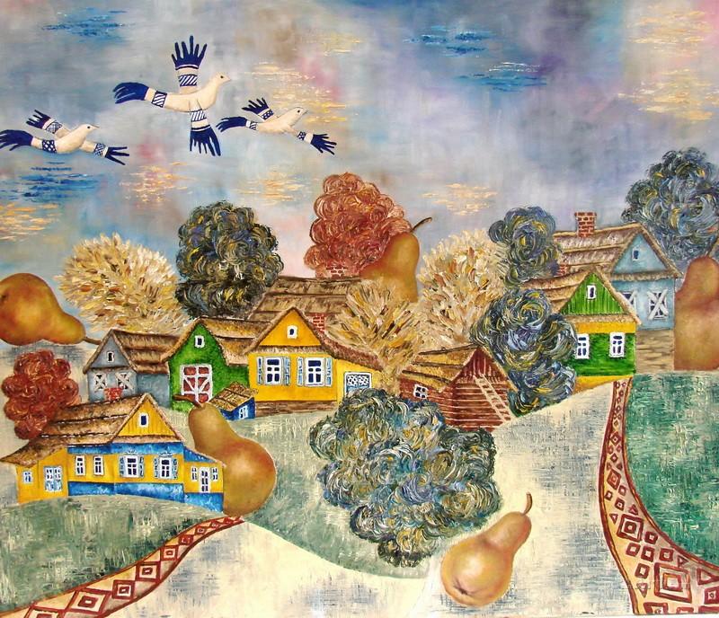 Славянская деревня  печать на холсте, натянут UkrainArt - фото 1