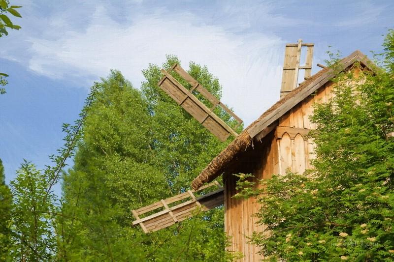 Старая мельница  печать на холсте, натянут UkrainArt - фото 1