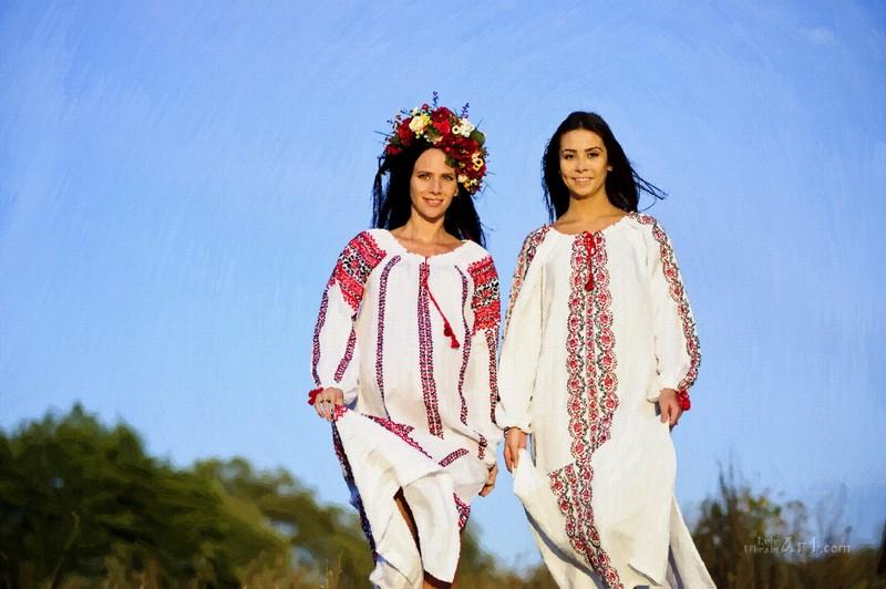 Украинки  печать на холсте, натянут UkrainArt - фото 1