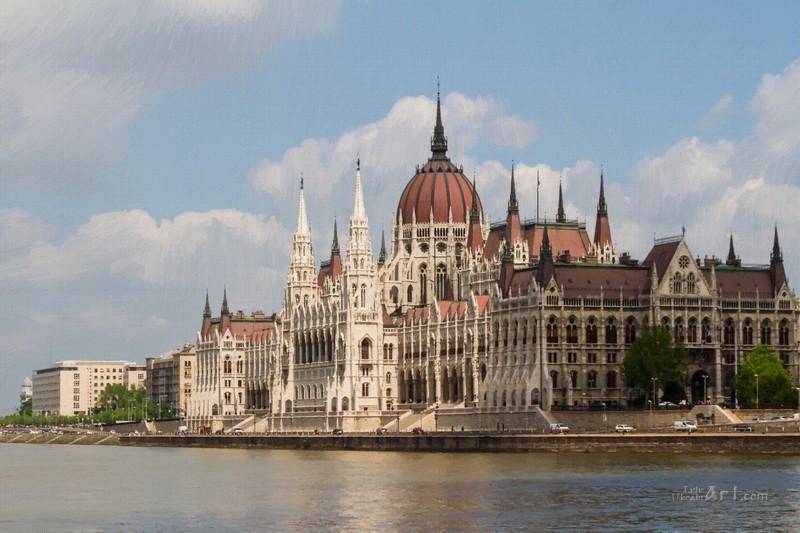 Будапешт  печать на холсте, натянут UkrainArt - фото 1