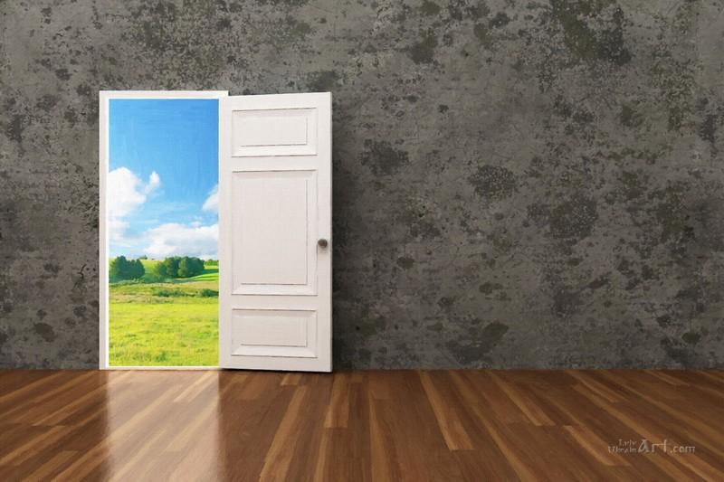 Открытые двери  печать на холсте, натянут UkrainArt - фото 1