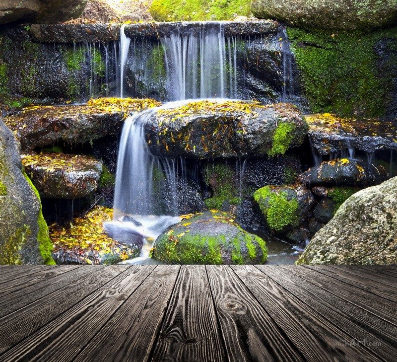 Водопад  печать на холсте, натянут UkrainArt - фото 1