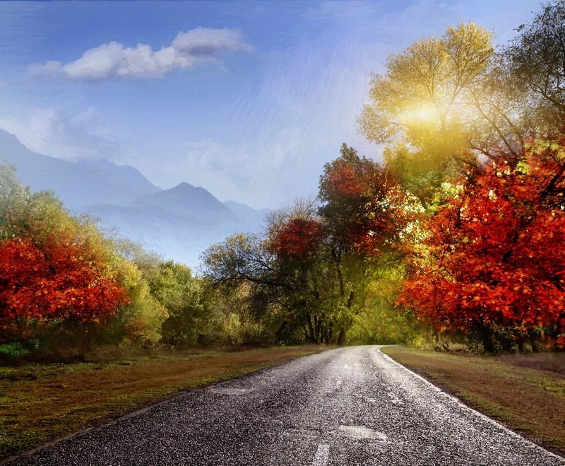 Осенью  печать на холсте, натянут UkrainArt - фото 1