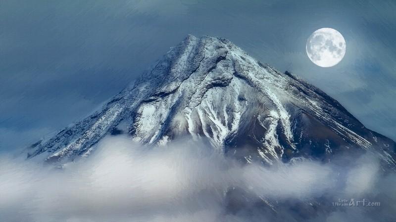 Вулкан  печать на холсте, натянут UkrainArt - фото 1
