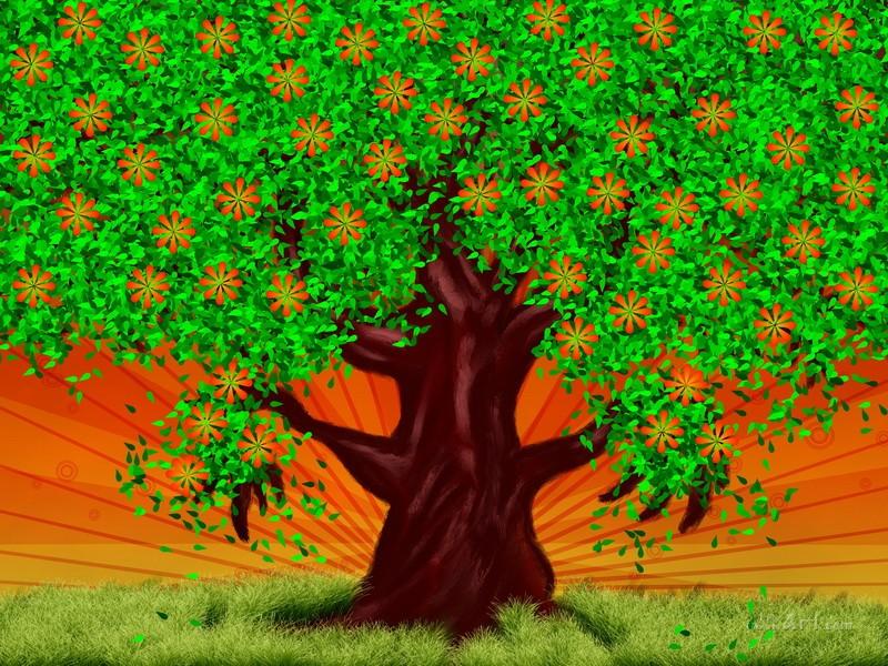 Дерево  печать на холсте, натянут UkrainArt - фото 1