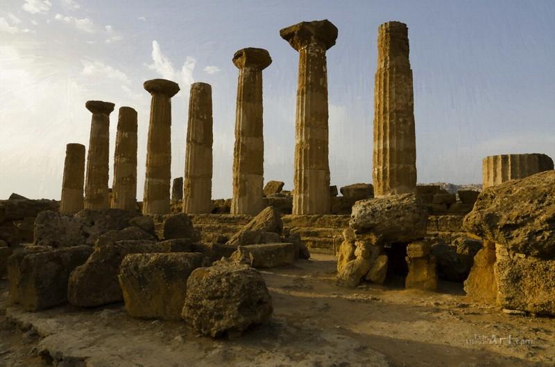 Остатки античного храма  печать на холсте, натянут UkrainArt - фото 1