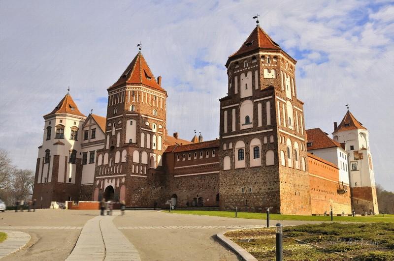 Замок  печать на холсте, натянут UkrainArt - фото 1