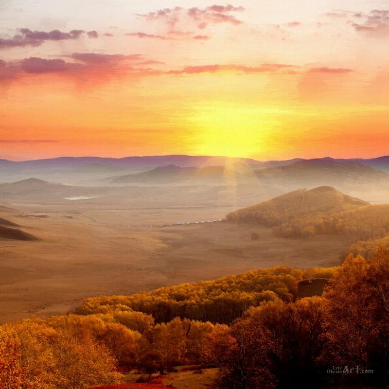 Закат  печать на холсте, натянут UkrainArt - фото 1