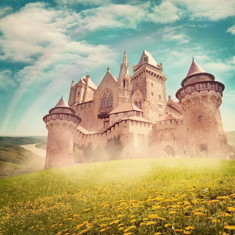Сказочный замок  печать на холсте, натянут UkrainArt - фото 1