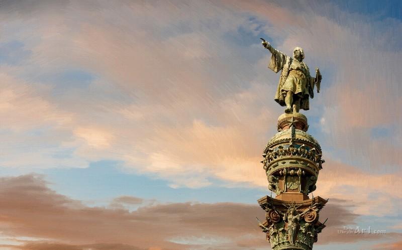 Колумб  печать на холсте, натянут UkrainArt - фото 1