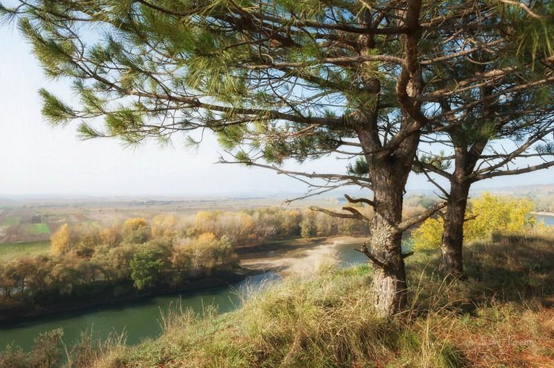 Над рекой  печать на холсте, натянут UkrainArt - фото 1