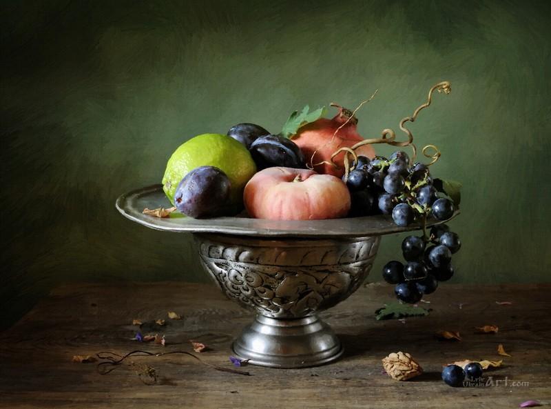 Натюрморт из фруктов  печать на холсте, натянут UkrainArt - фото 1