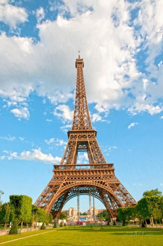 Париж  печать на холсте, натянут UkrainArt - фото 1