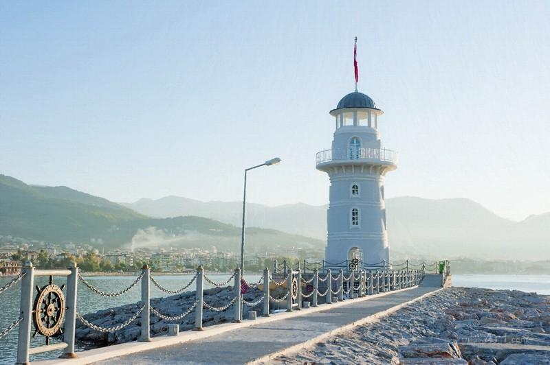 Пейзаж с маяком  печать на холсте, натянут UkrainArt - фото 1