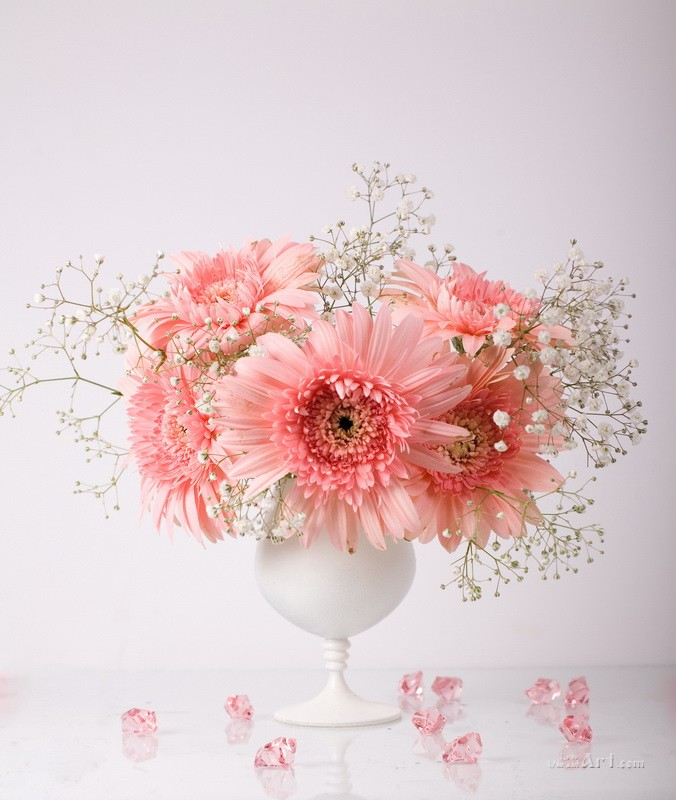 Розовый натюрморт  печать на холсте, натянут UkrainArt - фото 1