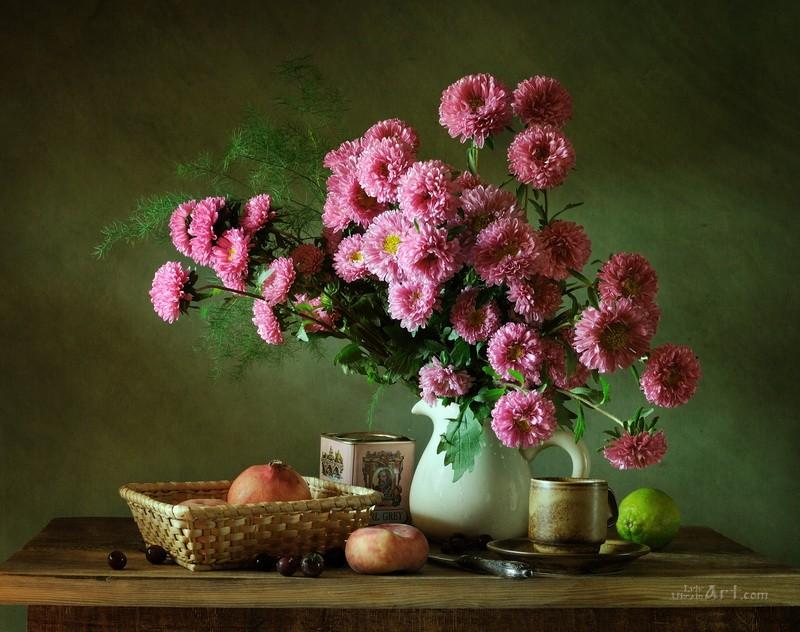 Розовые цветы  печать на холсте, натянут UkrainArt - фото 1