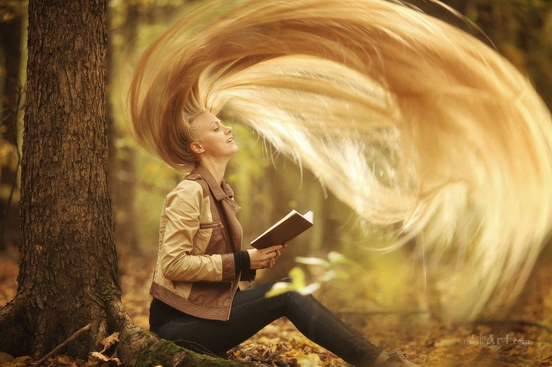 Роскошь волос  печать на холсте, натянут UkrainArt - фото 1