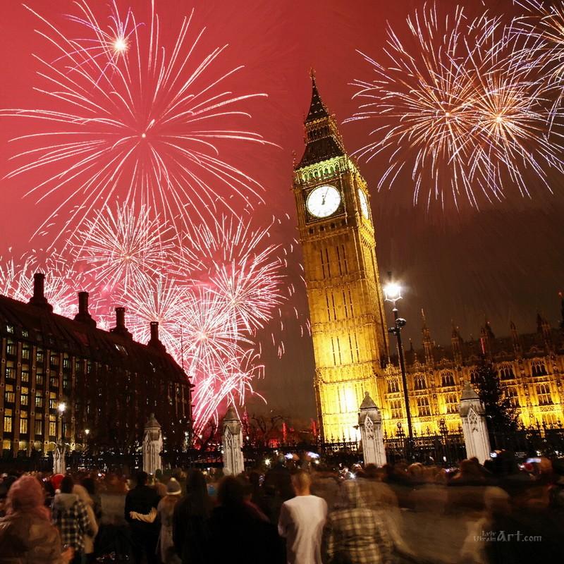 Праздничный Лондон  печать на холсте, натянут UkrainArt - фото 1