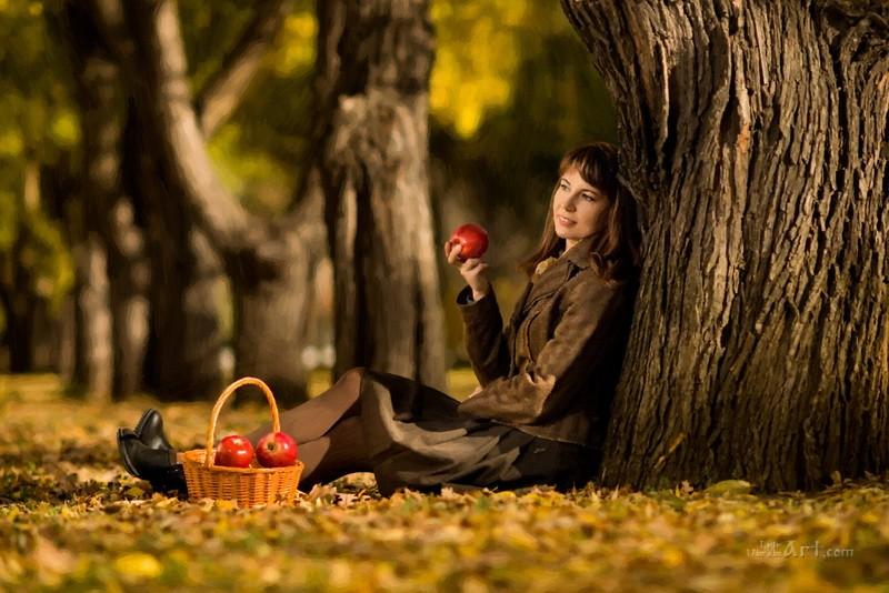 Смакует яблоки  печать на холсте, натянут UkrainArt - фото 1