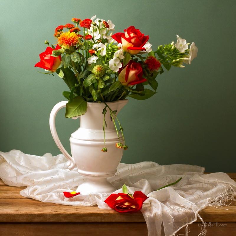 Розы  печать на холсте, натянут UkrainArt - фото 1