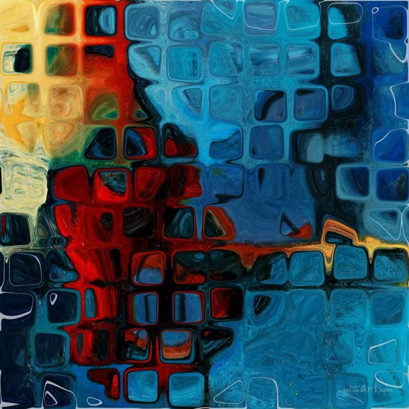 Абстрактное  печать на холсте, натянут UkrainArt - фото 1