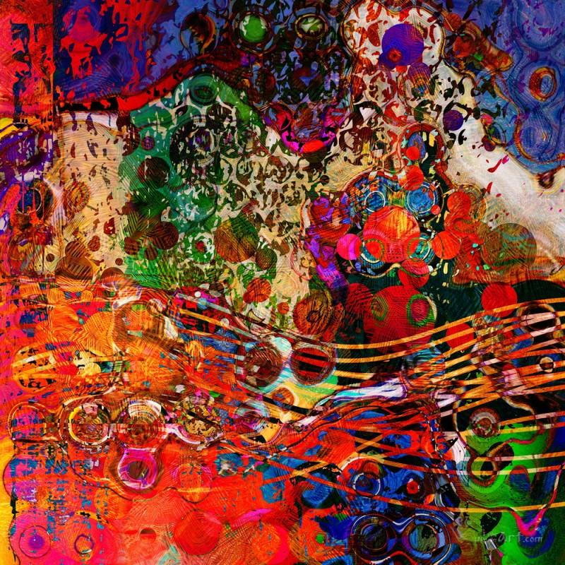 Абстракция  печать на холсте, натянут UkrainArt - фото 1