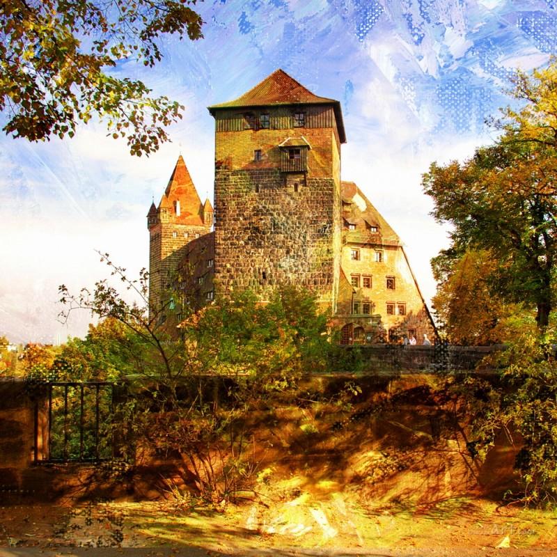 Старый замок  печать на холсте, натянут UkrainArt - фото 1