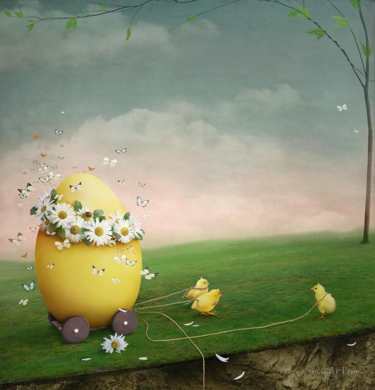 Яйцо  печать на холсте, натянут UkrainArt - фото 1