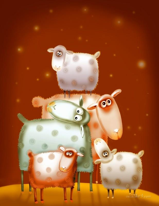 Овцы  печать на холсте, натянут UkrainArt - фото 1
