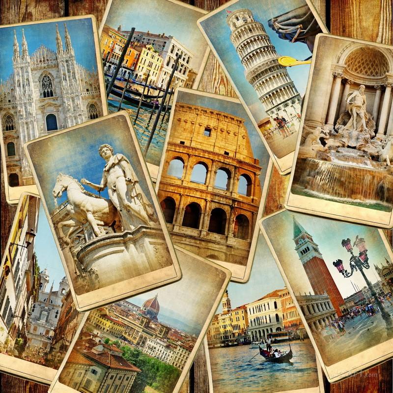 Архитектурный коллаж  печать на холсте, натянут UkrainArt - фото 1