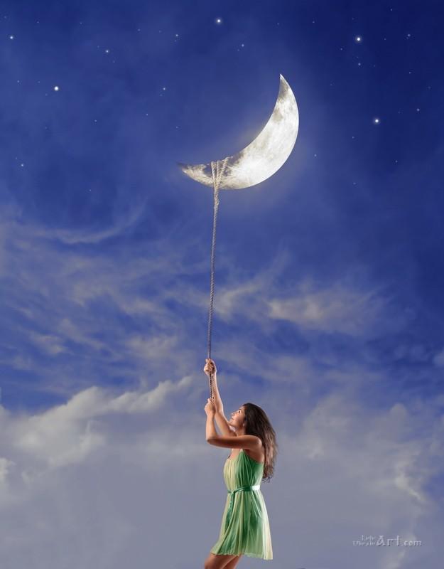 Ловец луны  печать на холсте, натянут UkrainArt - фото 1