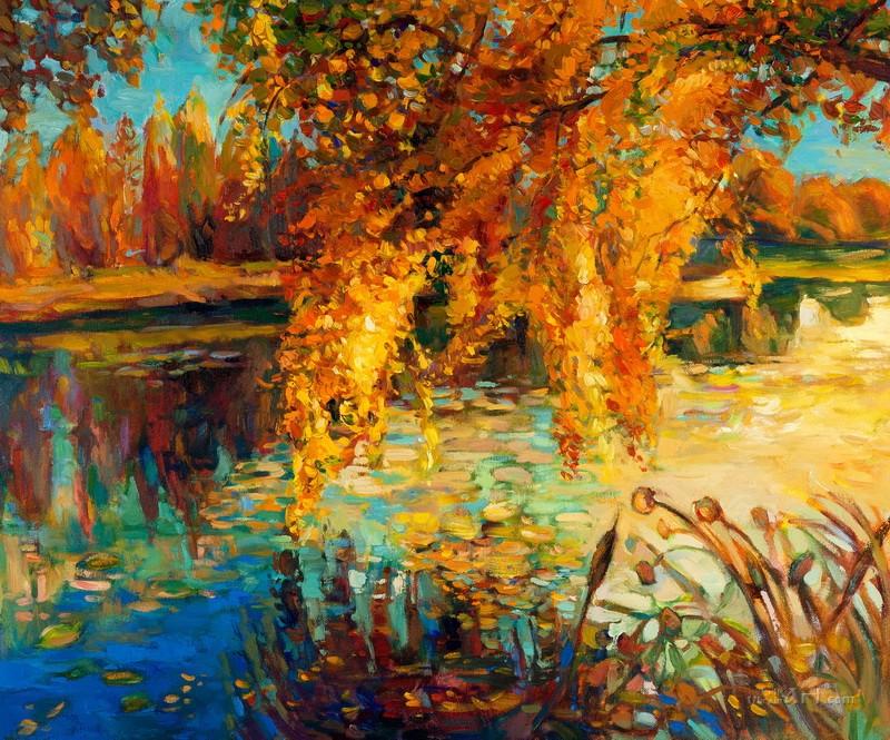 Осенний пейзаж  печать на холсте, натянут UkrainArt - фото 1
