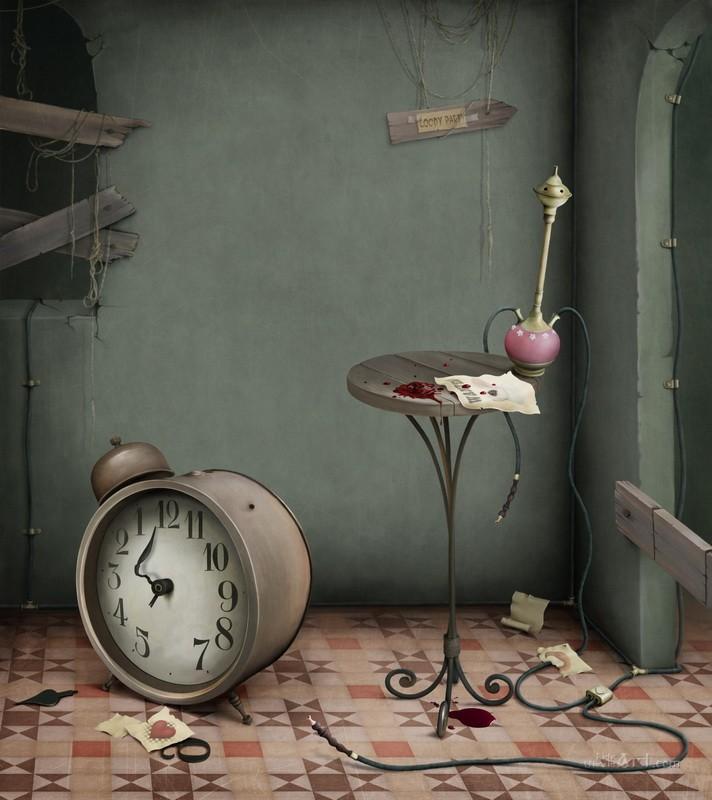 Иллюстрация к сказке Алиса в Стране чудес  печать на холсте, натянут UkrainArt - фото 1