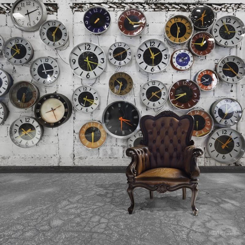 Часы в интерьере  печать на холсте, натянут UkrainArt - фото 1