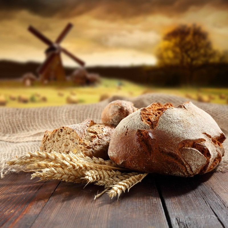 Свежий хлеб  печать на холсте, натянут UkrainArt - фото 1