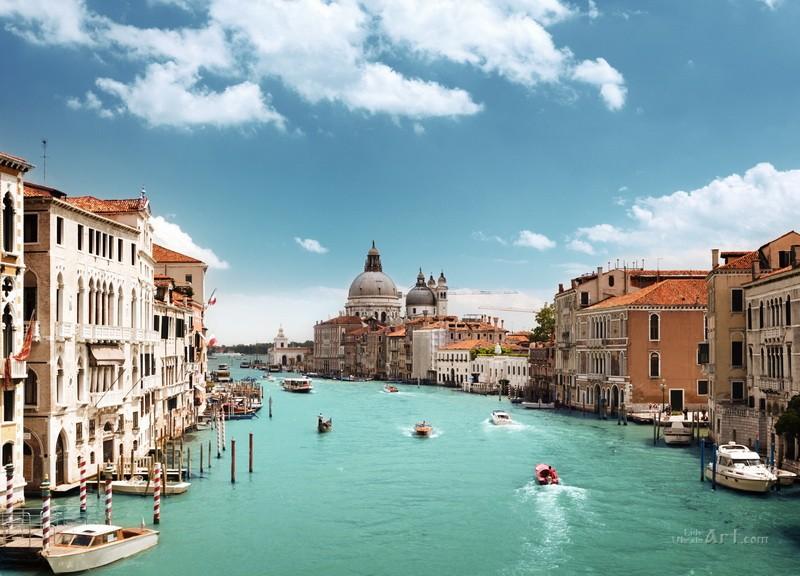 Вид на Венецию  печать на холсте, натянут UkrainArt - фото 1
