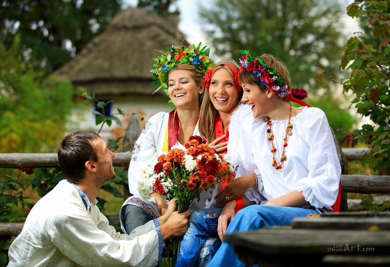 Ухаживание  печать на холсте, натянут UkrainArt - фото 1