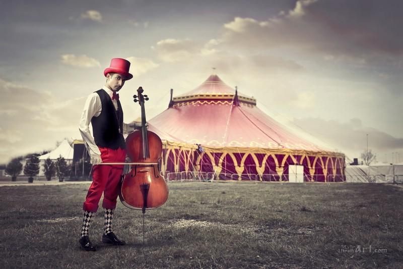 Цирк  печать на холсте, натянут UkrainArt - фото 1