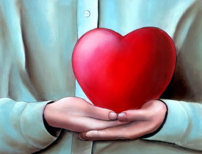 Сердце  печать на холсте, натянут UkrainArt - фото 1