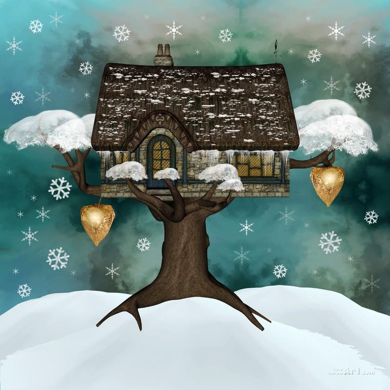 Сказочное дерево  печать на холсте, натянут UkrainArt - фото 1