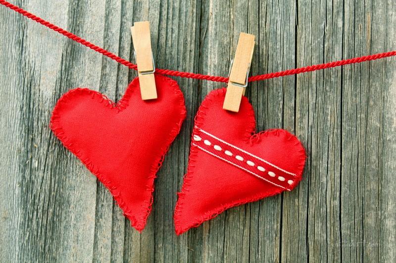 Два сердца  печать на холсте, натянут UkrainArt - фото 1