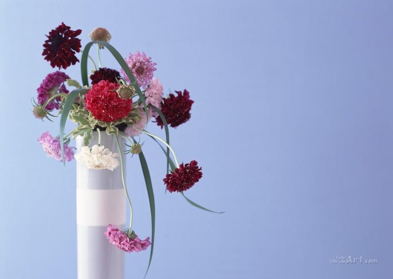 Ваза с цветами  печать на холсте, натянут UkrainArt - фото 1