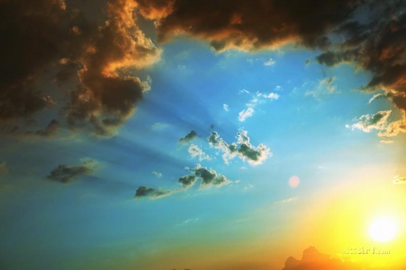 Закат солнца  печать на холсте, натянут UkrainArt - фото 1
