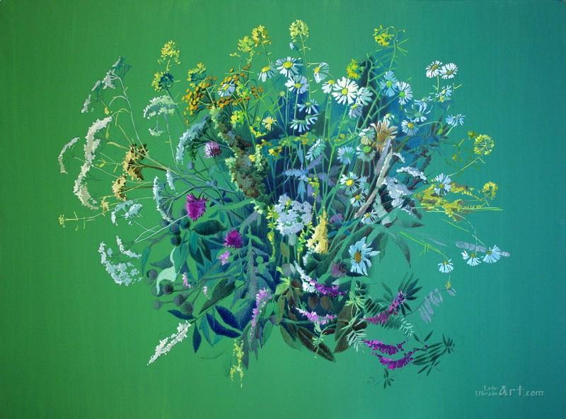 Композиция из цветов  печать на холсте, натянут UkrainArt - фото 1
