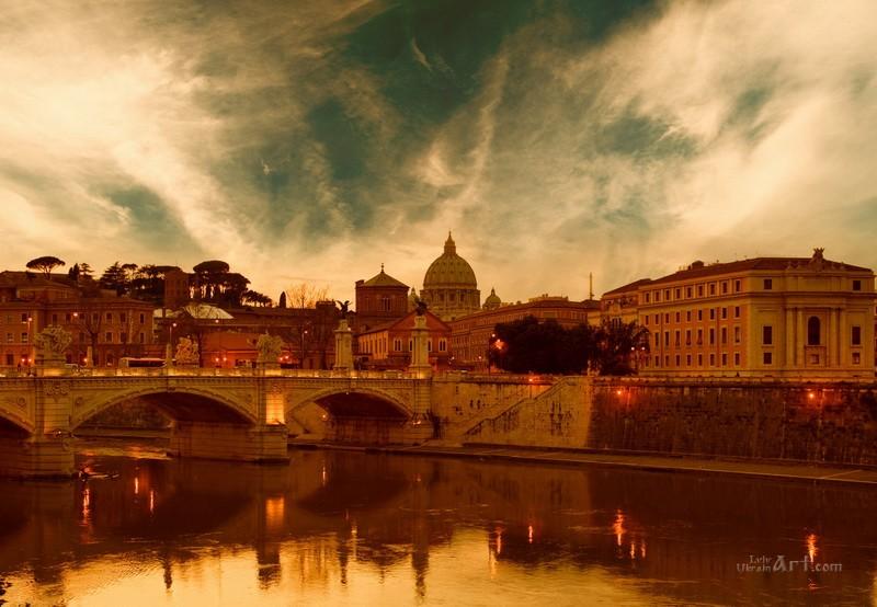 Рим  печать на холсте, натянут UkrainArt - фото 1