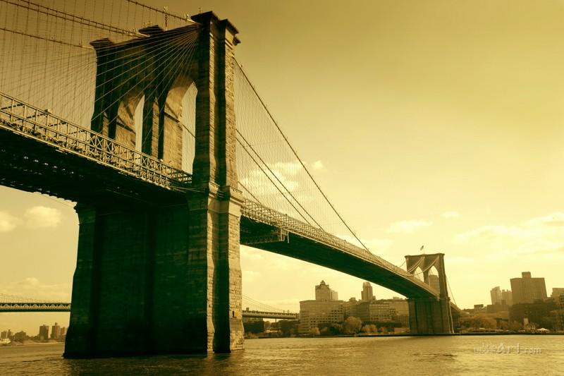 Бруклинский мост  печать на холсте, натянут UkrainArt - фото 1