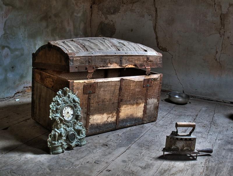 Старый сундук  печать на холсте, натянут UkrainArt - фото 1
