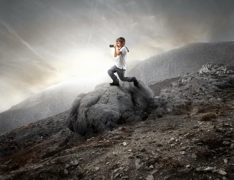 Юный фотограф  печать на холсте, натянут UkrainArt - фото 1