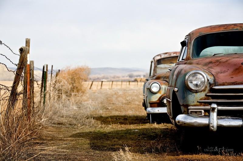 Старые авто  печать на холсте, натянут UkrainArt - фото 1